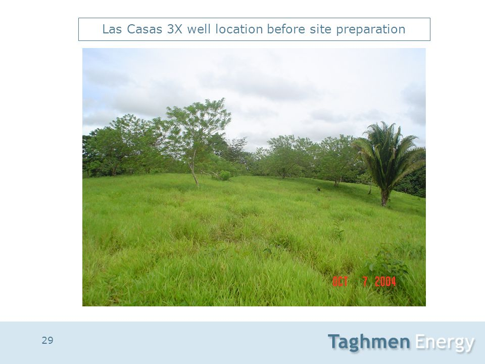 29 Las Casas 3X well location before site preparation