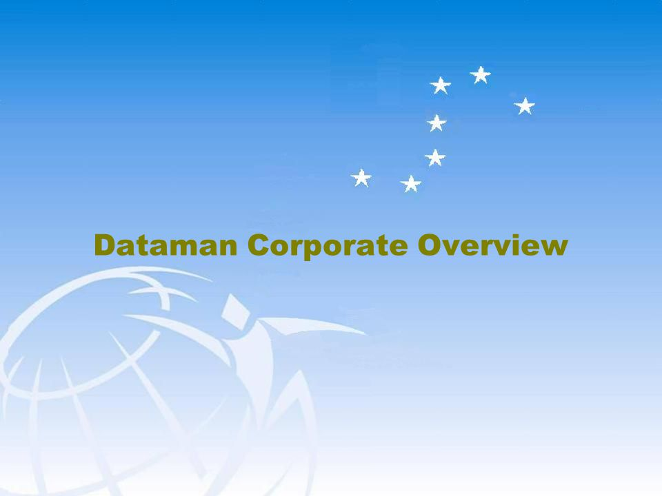 23 Dataman Proprietary and Confidential Cost Based Capability Based Activity Focus Short View Vendors as Contractors Competing Objectives Value Based Track Record Outcome Focus Long View Vendors as Partners Mutual Commitment & Trust Strategic Transactional Dataman Partnership Approach  Small number of strategic relationships  Focus on providing value to Client  Accountable for delivering quality results  Work as a partner to fully leverage the offshore and Staffing model within Client  Willing and interested in Creating Capabilities to Meet Client and Client Expectation  Strong relationship at senior levels between our organizations  Regular interactions at all levels in the organization  Effective ability to discuss and resolve issues  Value & respect the partnership VS