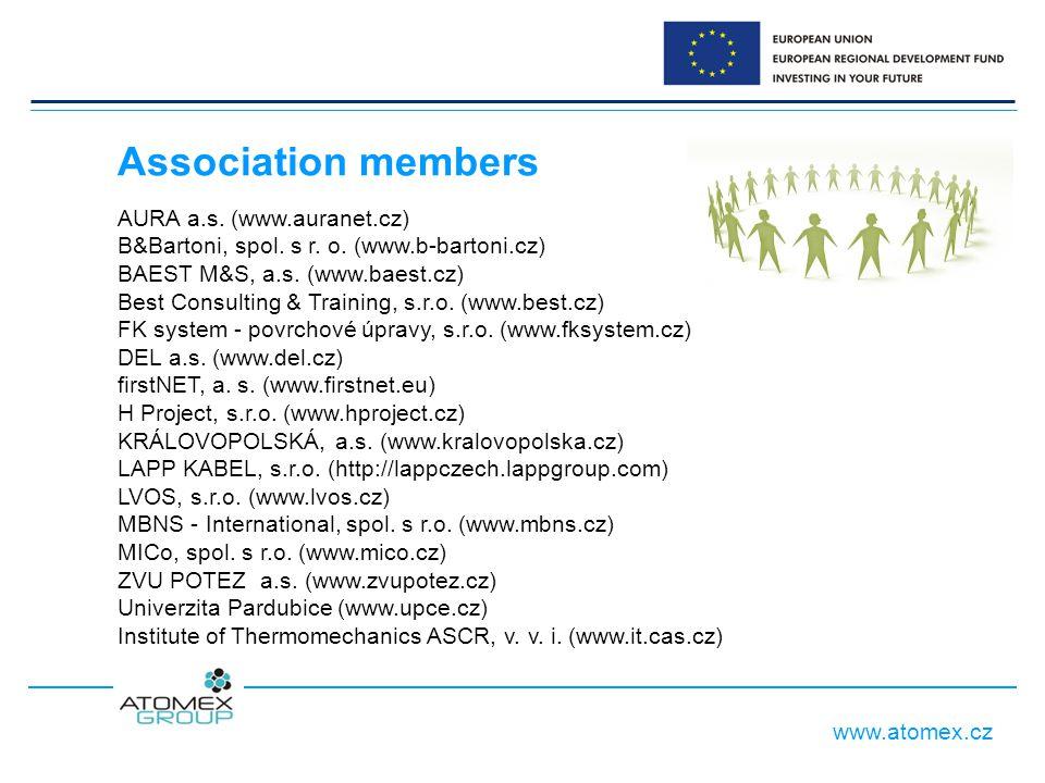 www.atomex.cz AURA a.s. (www.auranet.cz) B&Bartoni, spol. s r. o. (www.b-bartoni.cz) BAEST M&S, a.s. (www.baest.cz) Best Consulting & Training, s.r.o.