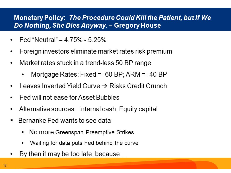 12 Monetary Policy: The Procedure Could Kill the Patient, but If We Do Nothing, She Dies Anyway.
