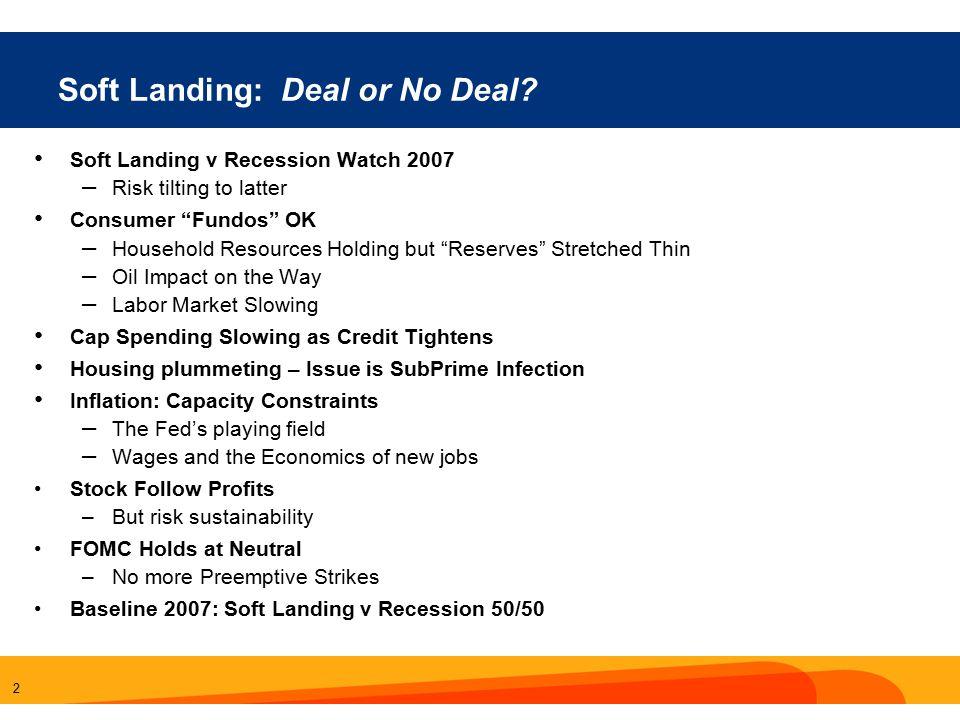 2 Soft Landing: Deal or No Deal.