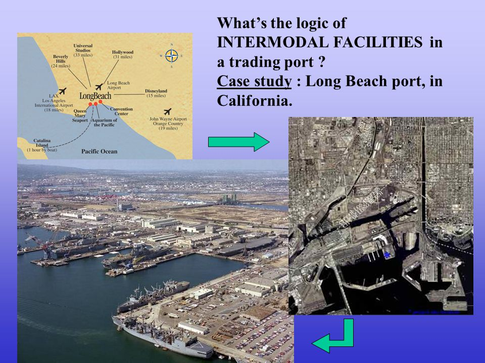 What's the logic of INTERMODAL FACILITIES in a trading port .