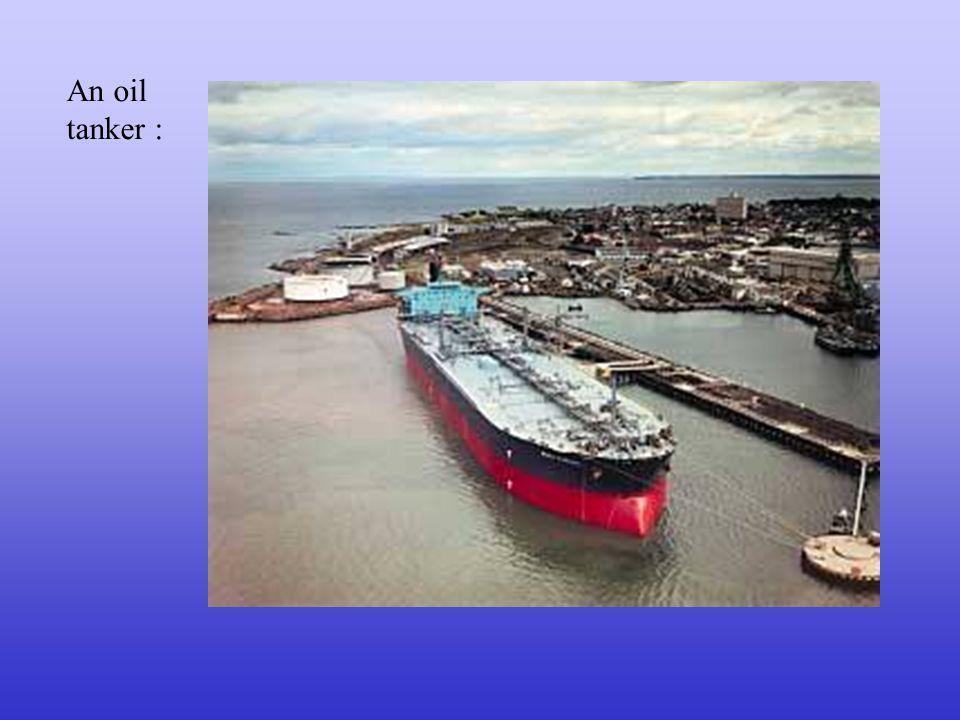 A container ship :