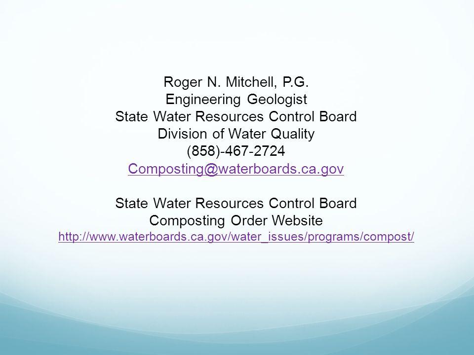 Roger N. Mitchell, P.G.