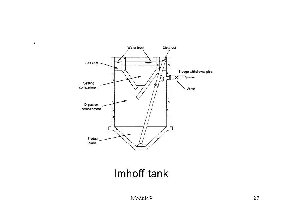 Module 927 Imhoff tank.