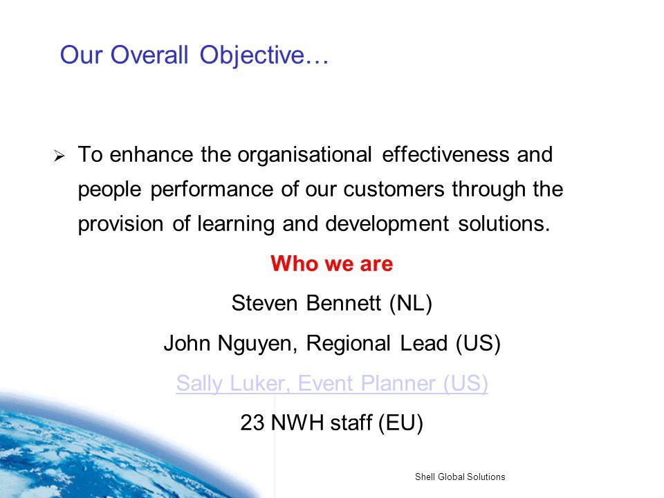 Shell Global Solutions Shell Global Solutions (US) Learning Center China National Petroleum Company Presentation 1 Nov 2004