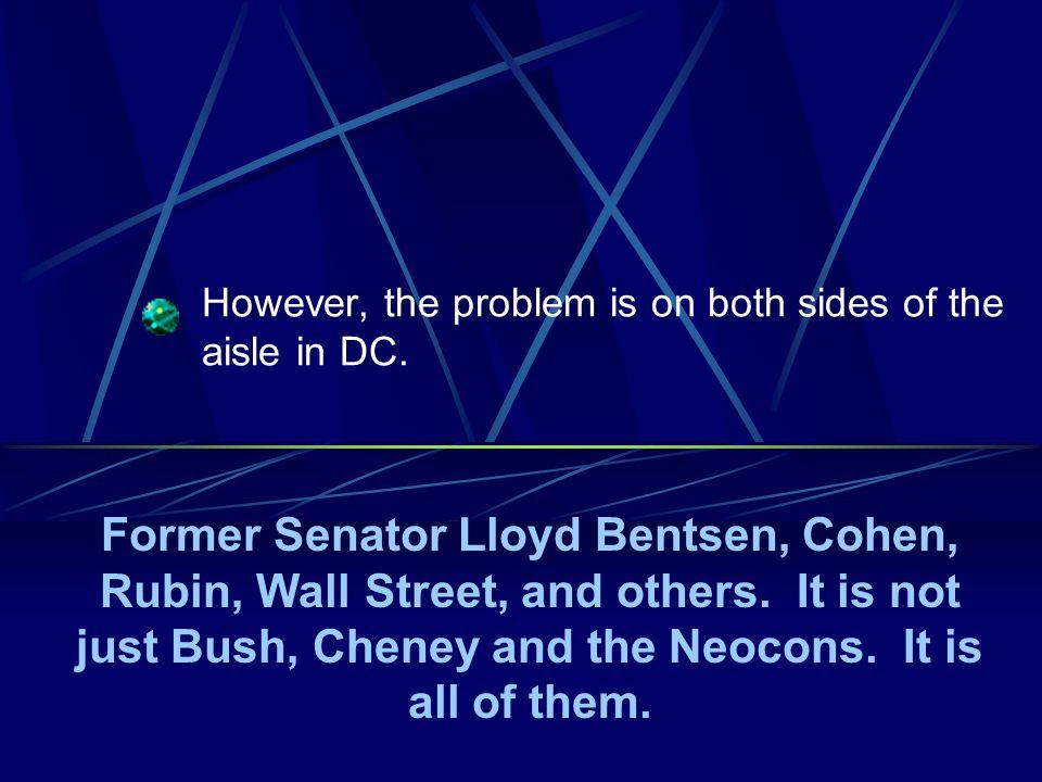 Who promotes that lunacy. George H.W. Bush, James A.