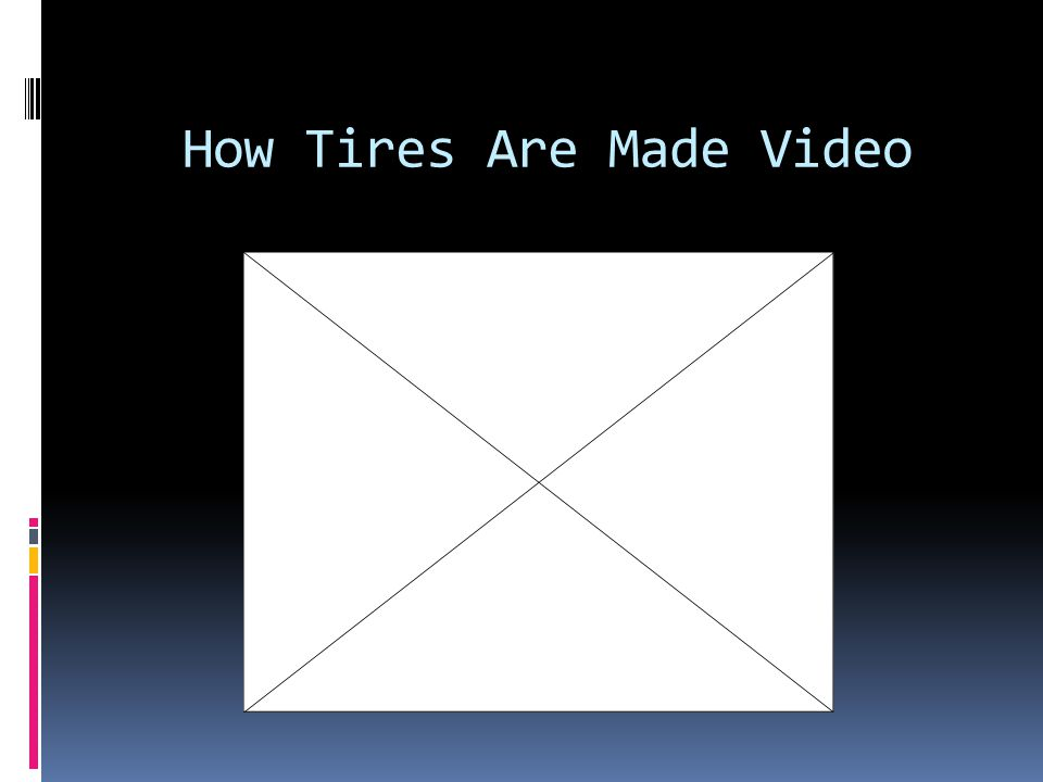 How Tires Are Made Video