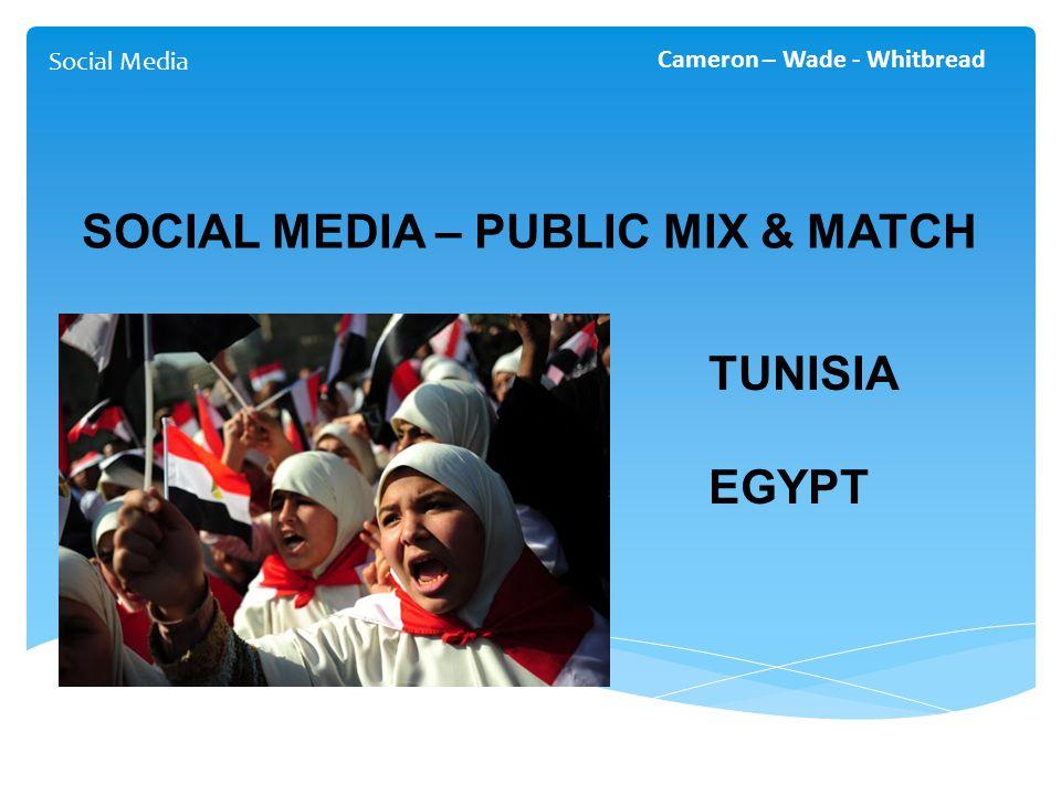 Social Media Cameron – Wade - Whitbread SOCIAL MEDIA – PUBLIC MIX & MATCH TUNISIA EGYPT