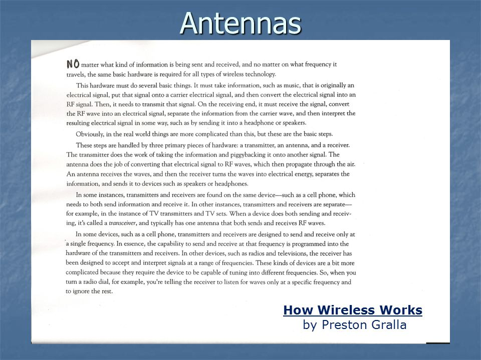 Antennas How Wireless Works by Preston Gralla