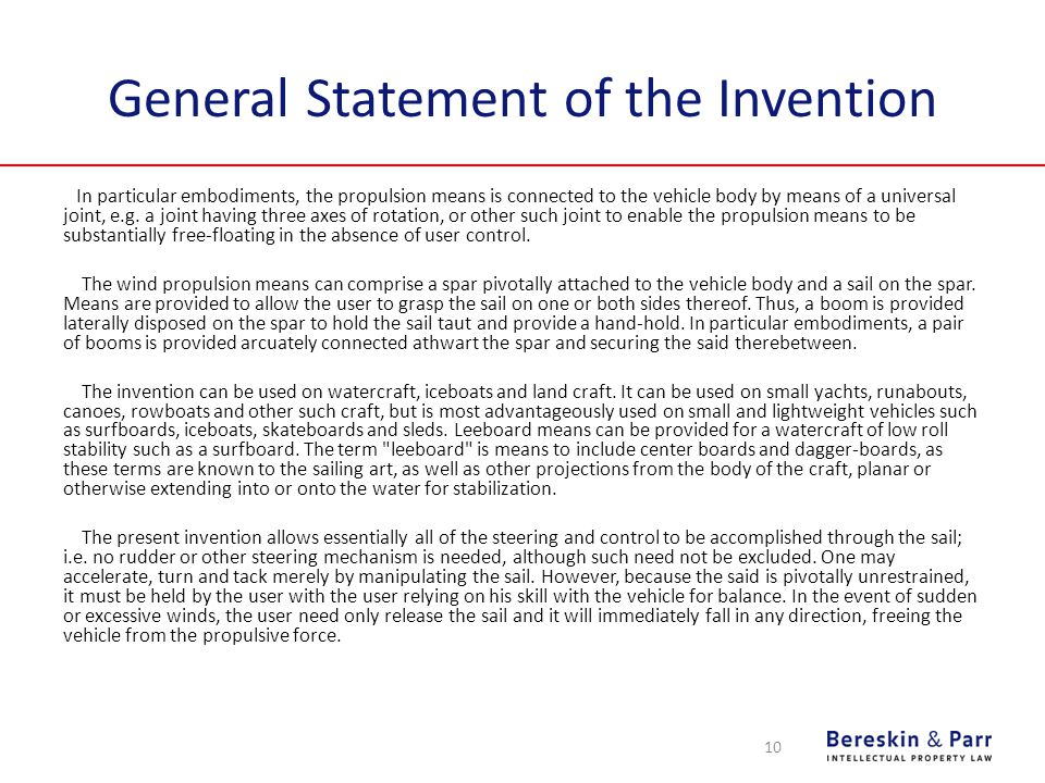 General Statement of the Invention In particular embodiments, the propulsion means is connected to the vehicle body by means of a universal joint, e.g.