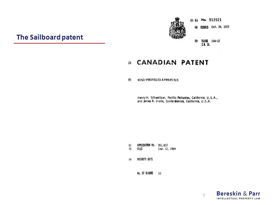 The Sailboard patent 7