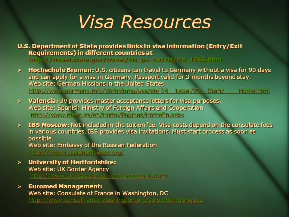 Visa Resources U.S.