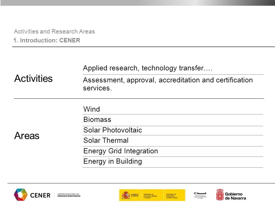CENER in numbers 1.