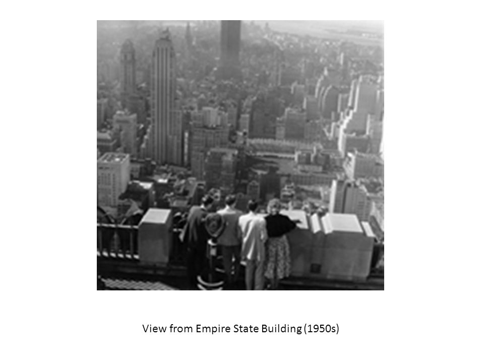 View from Empire State Building (1950s)