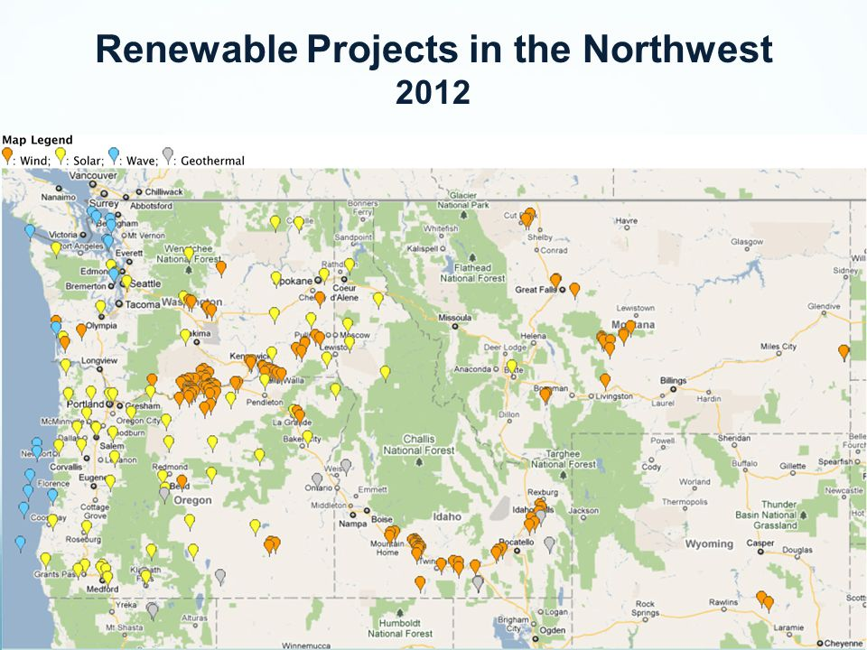 Renewable Projects in the Northwest 2012