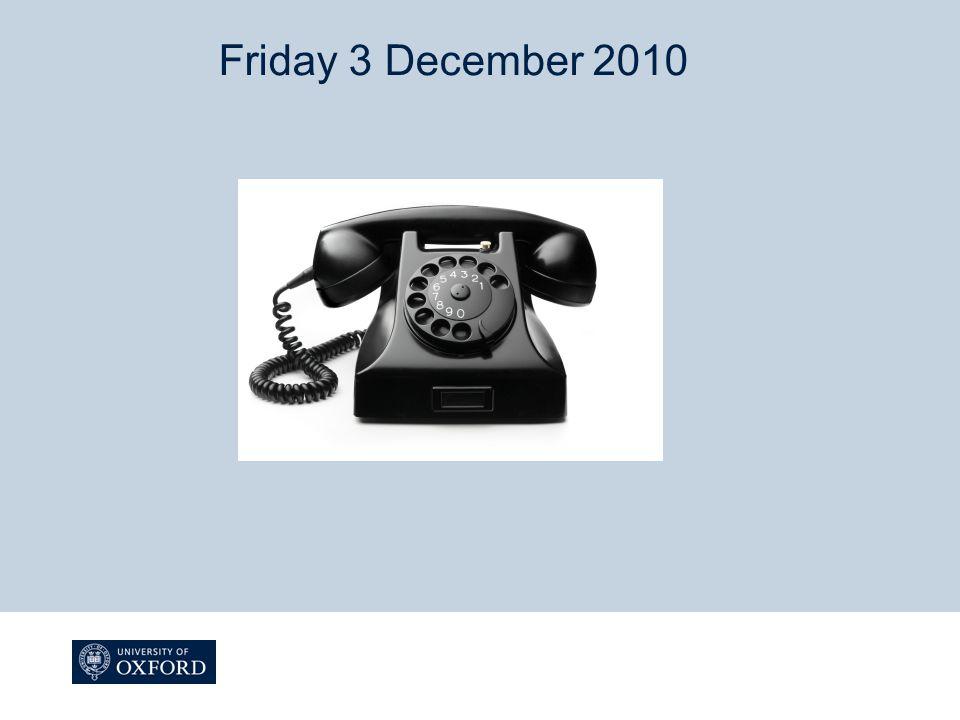 Friday 3 December 2010