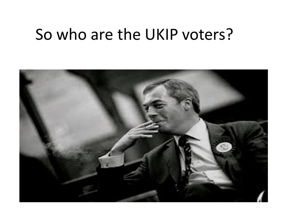 So who are the UKIP voters?