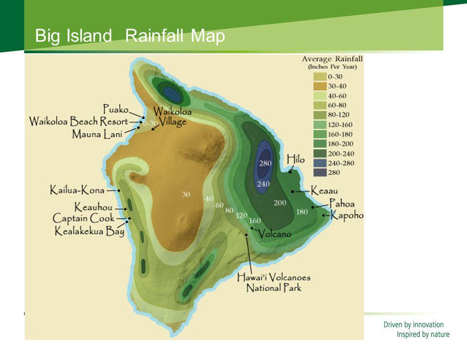 Big Island Rainfall Map