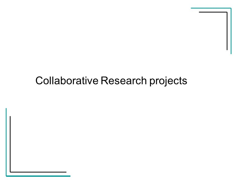 Collaborative Research projects