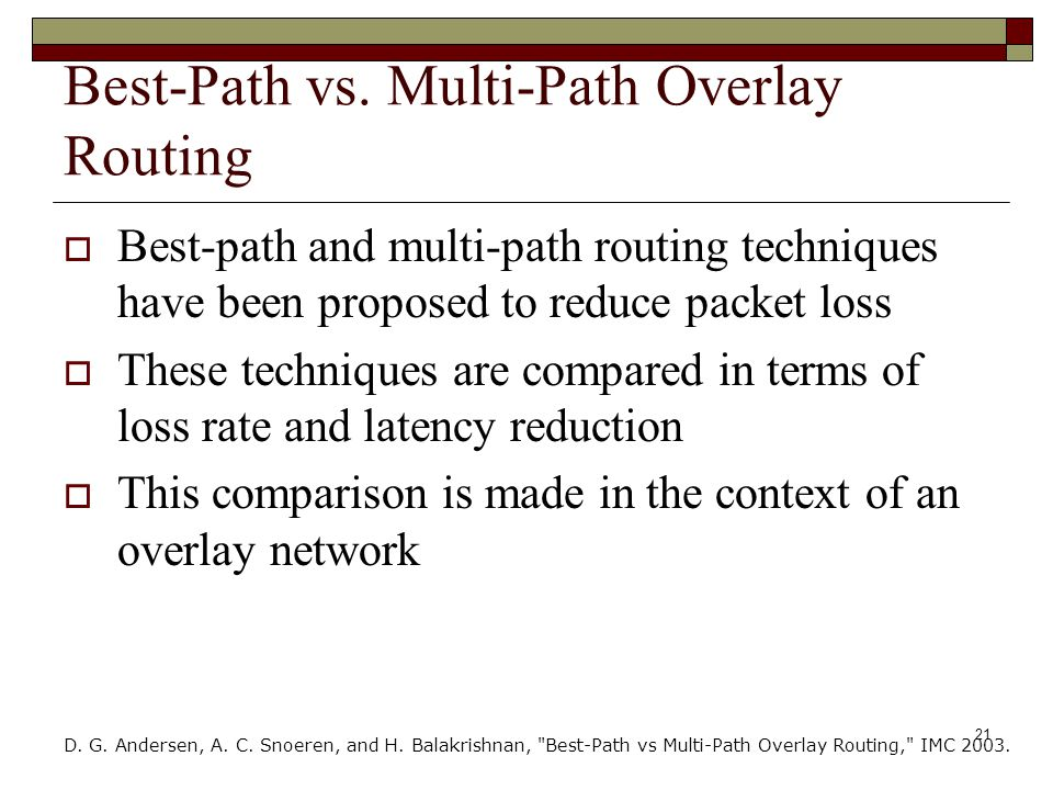 21 Best-Path vs.