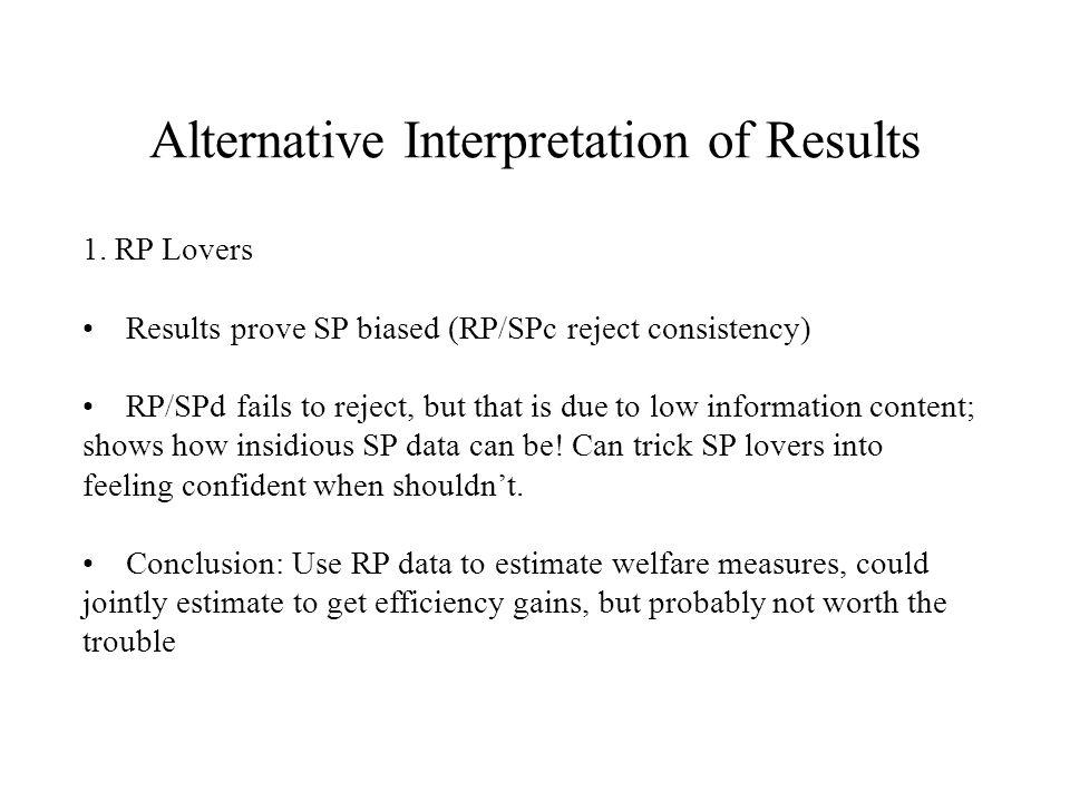 Alternative Interpretation of Results 1.