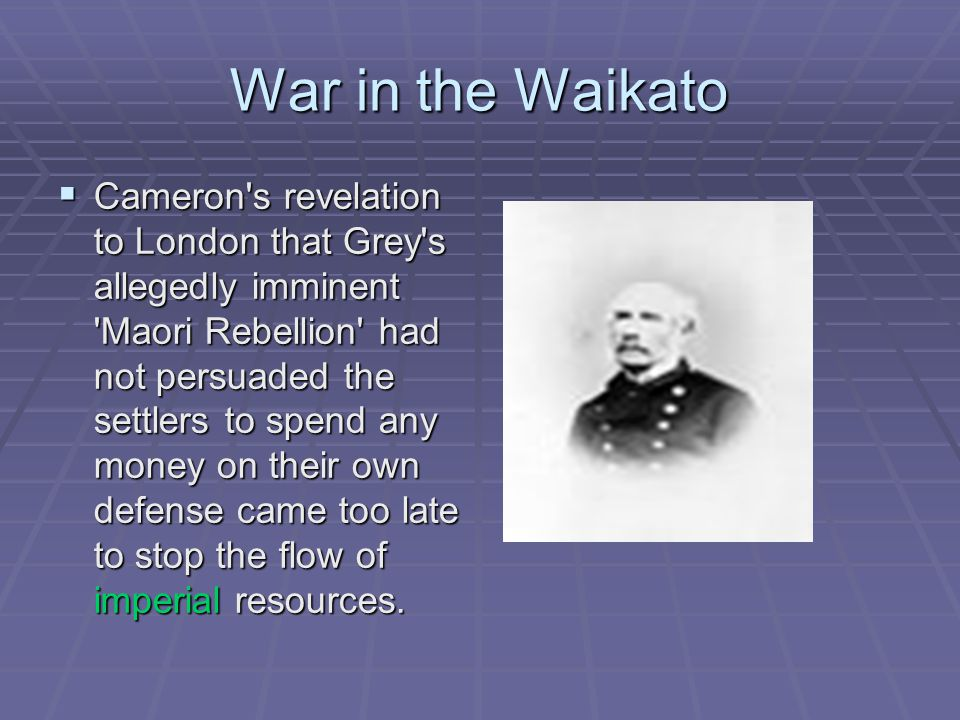 War in the Waikato  Orakau: Rewi Maniapoto, forced into a defensive stand on a un- suitable site, resisted five assaults before attempting an audacious breakout.