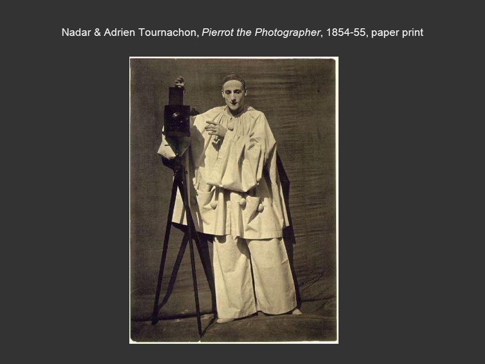 Nadar & Adrien Tournachon, Pierrot the Photographer, 1854-55, paper print