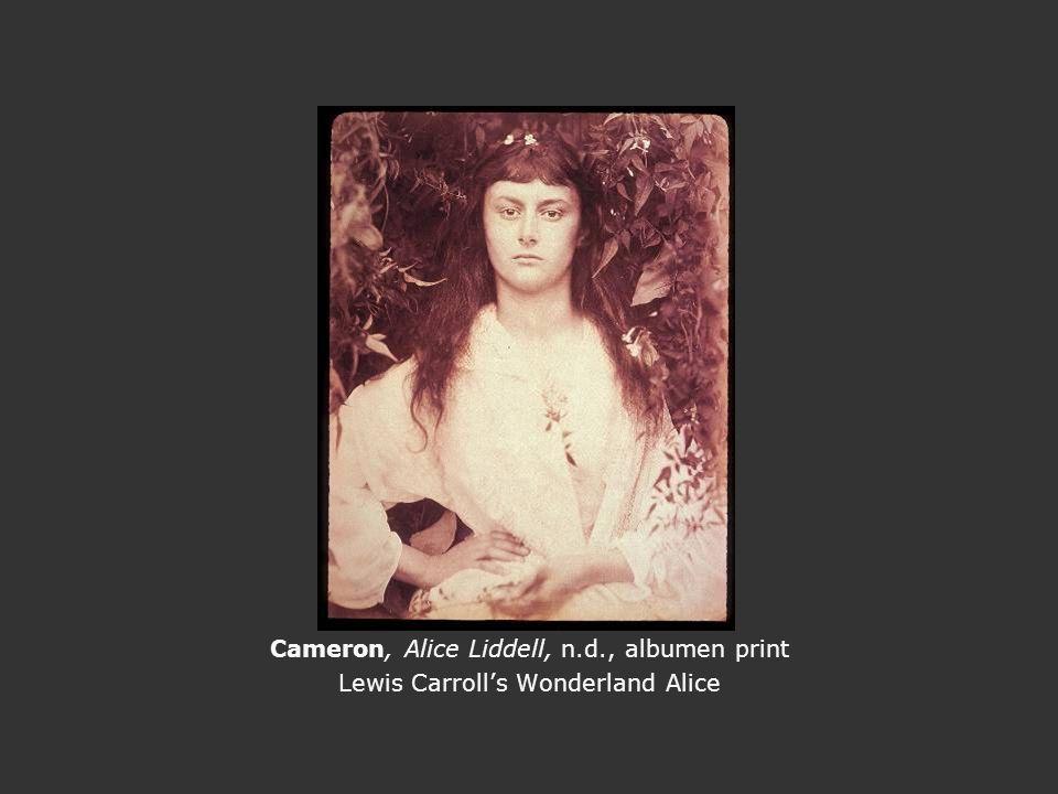 Cameron, Alice Liddell, n.d., albumen print Lewis Carroll's Wonderland Alice