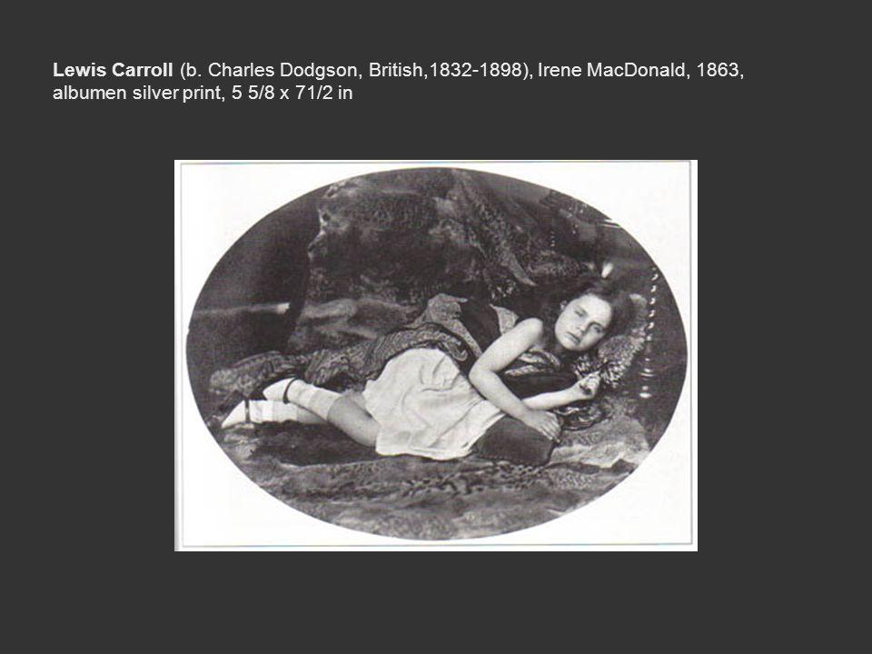 Lewis Carroll (b. Charles Dodgson, British,1832-1898), Irene MacDonald, 1863, albumen silver print, 5 5/8 x 71/2 in