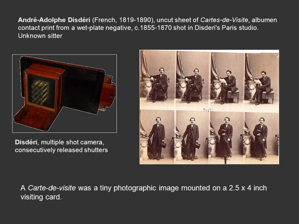 André-Adolphe Disdéri (French, 1819-1890), uncut sheet of Cartes-de-Visite, albumen contact print from a wet-plate negative, c.1855-1870 shot in Disde