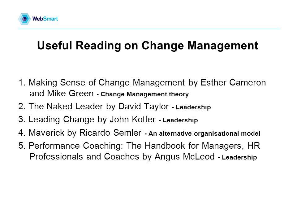 Useful Reading on Change Management 1.