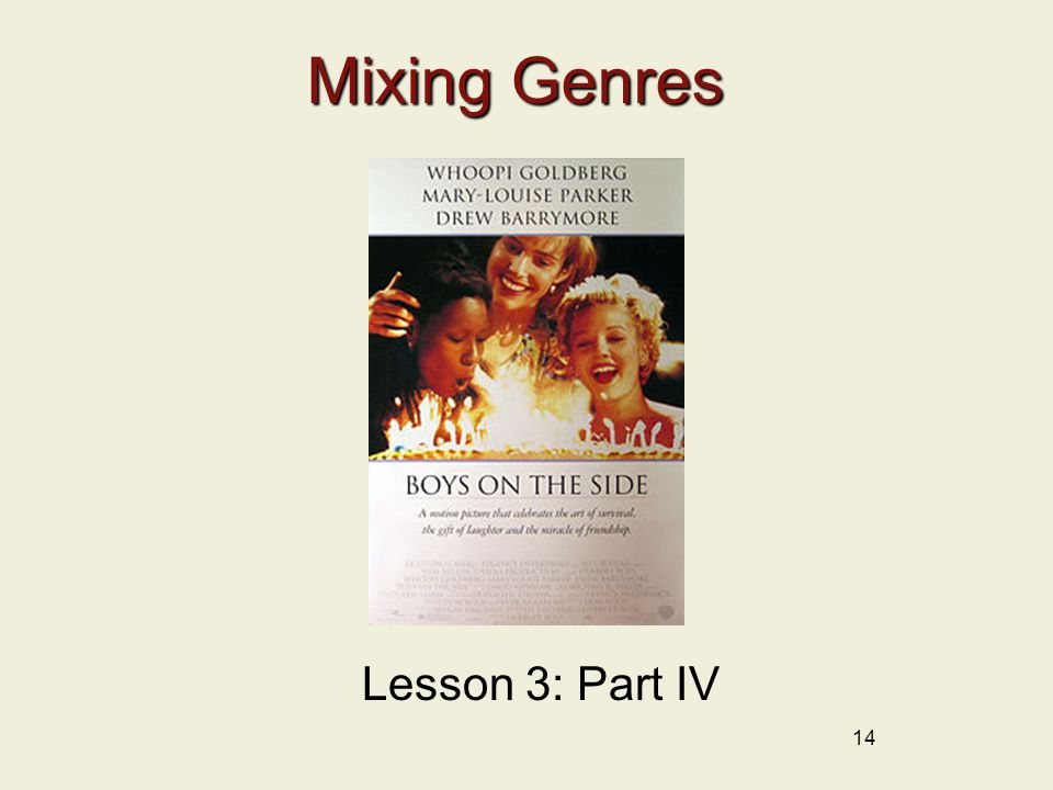 Mixing Genres 14 Lesson 3: Part IV