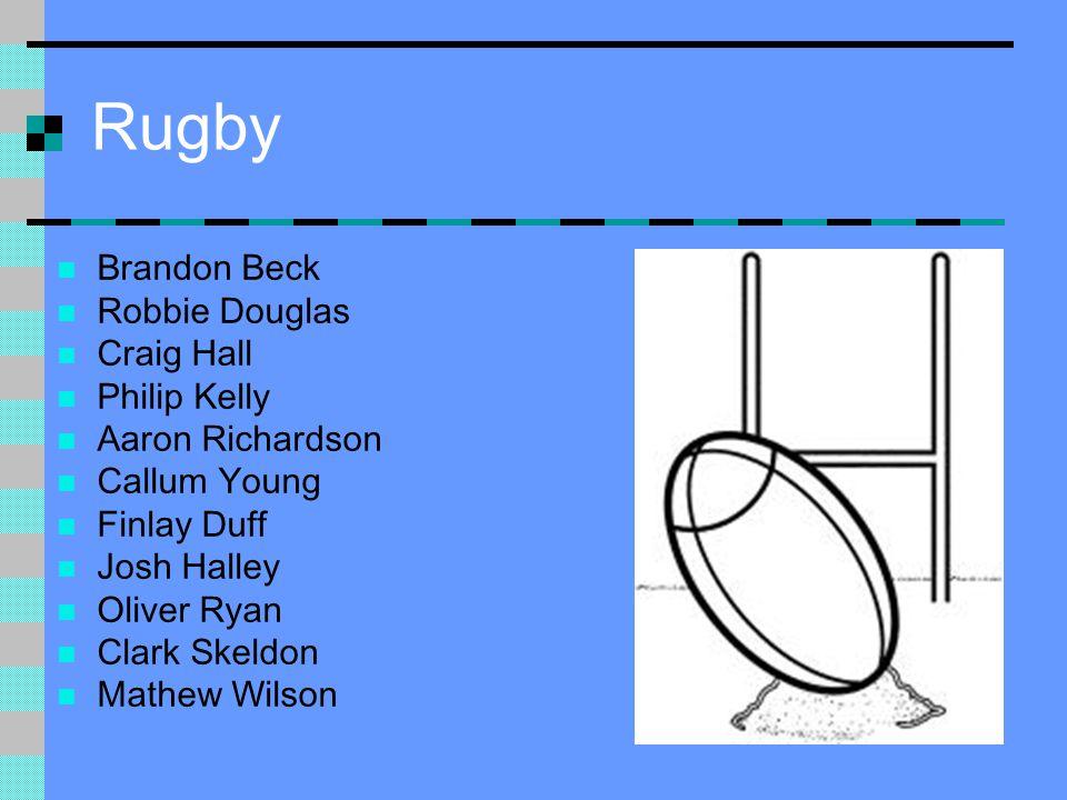 Rugby Brandon Beck Robbie Douglas Craig Hall Philip Kelly Aaron Richardson Callum Young Finlay Duff Josh Halley Oliver Ryan Clark Skeldon Mathew Wilson