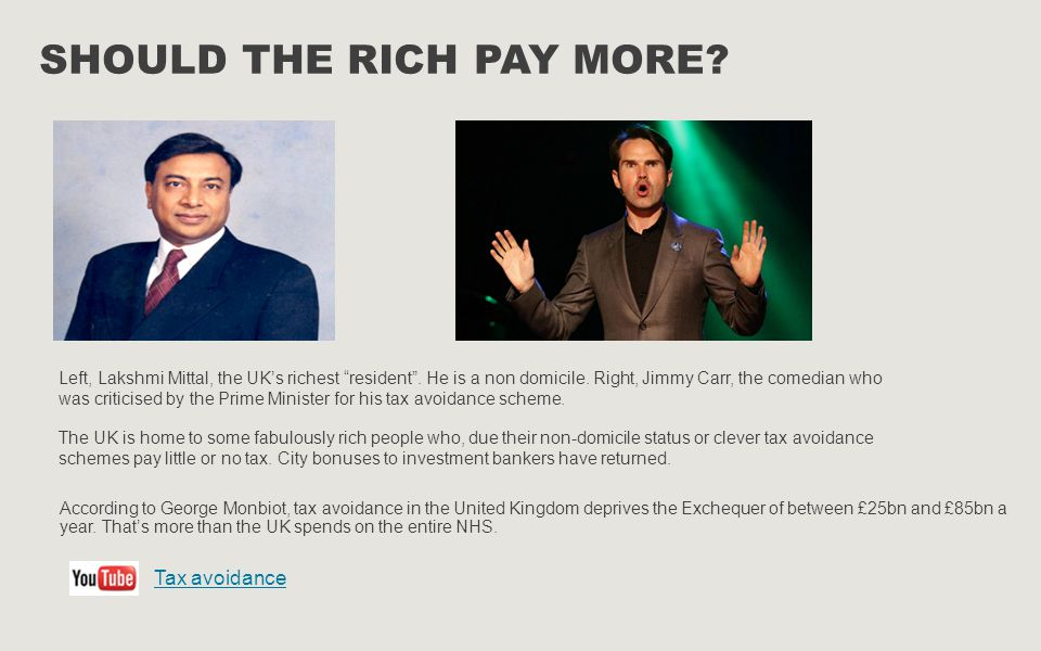 """SHOULD THE RICH PAY MORE? Left, Lakshmi Mittal, the UK's richest """"resident"""". He is a non domicile. Right, Jimmy Carr, the comedian who was criticised"""