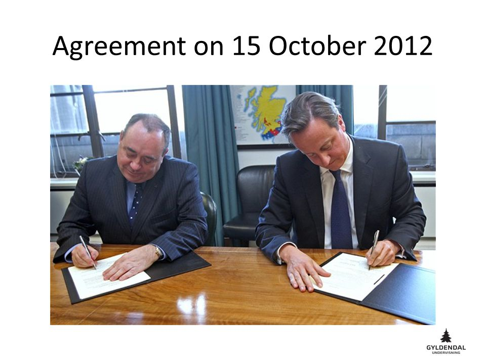Agreement on 15 October 2012