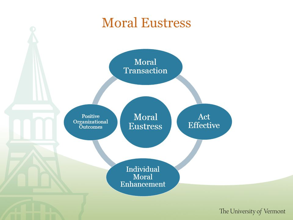 Moral Eustress Moral Transaction Act Effective Individual Moral Enhancement Positive Organizational Outcomes