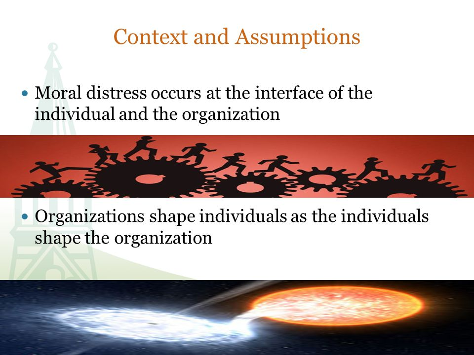 Gaps in Existing Knowledge Little evidence based research on individual/organizational interaction.