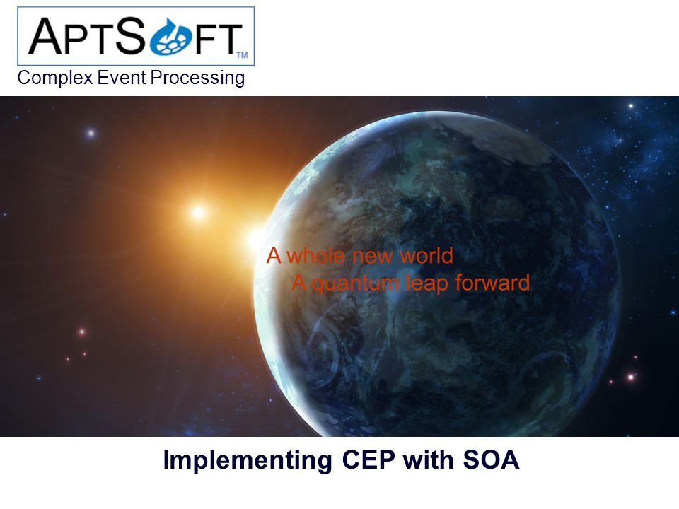 Complex Event Processing © Mark A. Garlick Implementing CEP with SOA