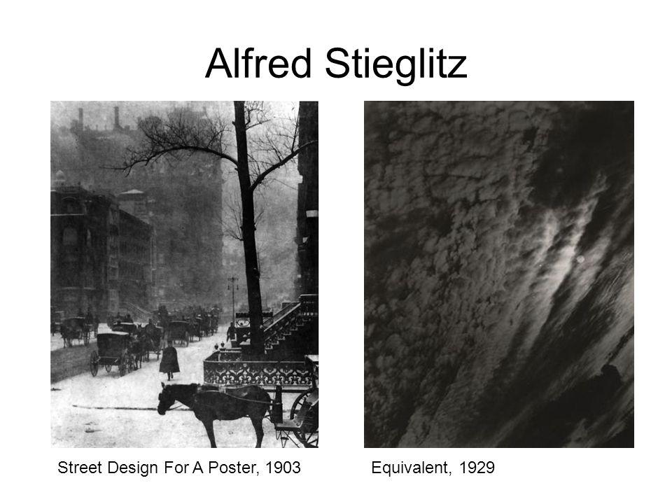 Alfred Stieglitz Street Design For A Poster, 1903Equivalent, 1929