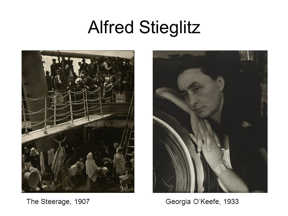 Alfred Stieglitz Georgia O'Keefe, 1933The Steerage, 1907