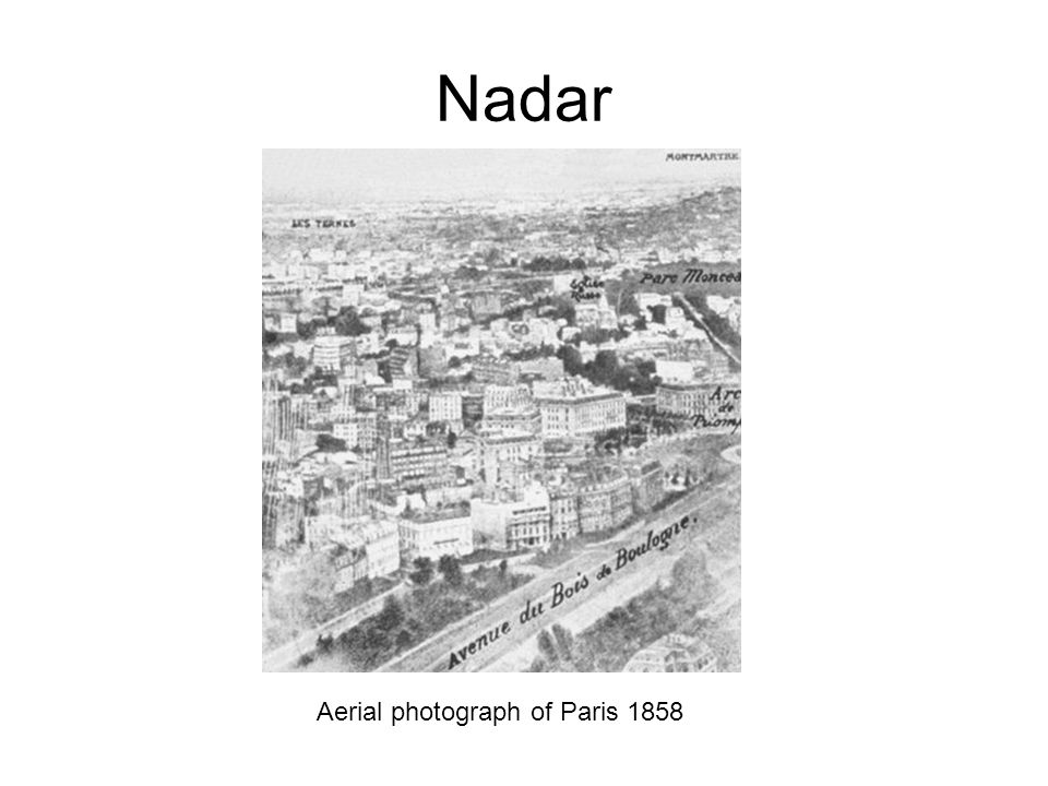 Nadar Aerial photograph of Paris 1858