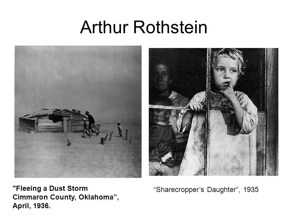 Arthur Rothstein Fleeing a Dust Storm Cimmaron County, Oklahoma , April, 1936.