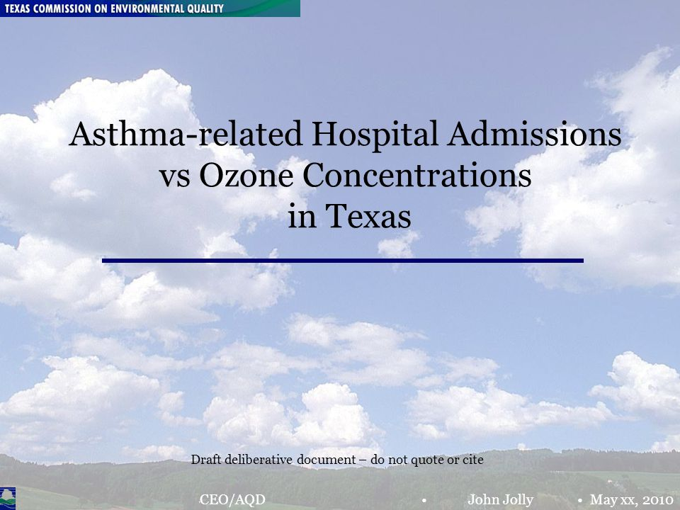 Chief Engineer's Office The Mont Belvieu Puzzle; JJ& RN April 8, 2010 Page 2 Research Questions 1.In ten of Texas' most populated counties, how well do ozone concentrations and hospital admissions (due to asthma) correlate.