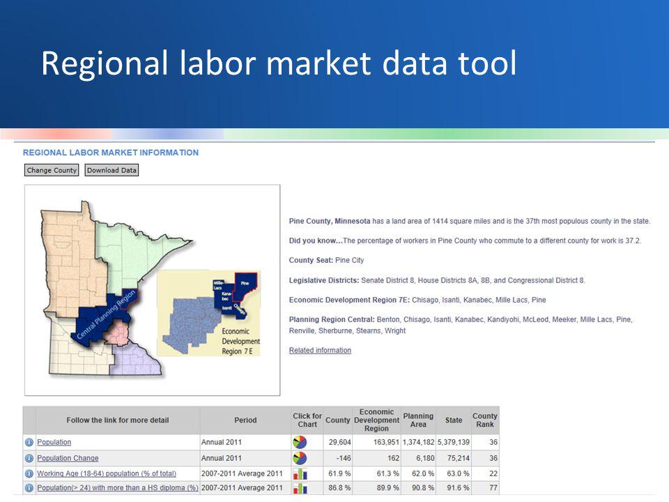 Regional labor market data tool