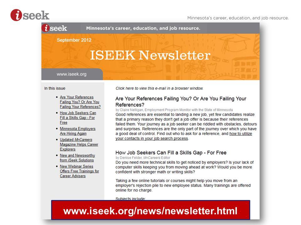 www.iseek.org/news/newsletter.html