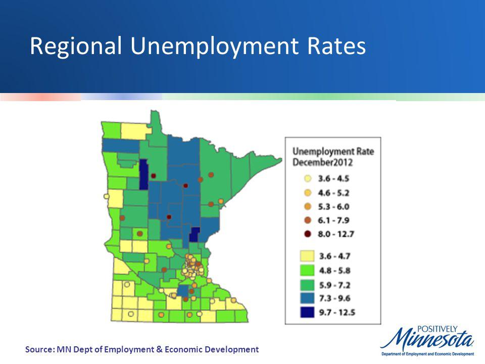 Regional Unemployment Rates Source: MN Dept of Employment & Economic Development