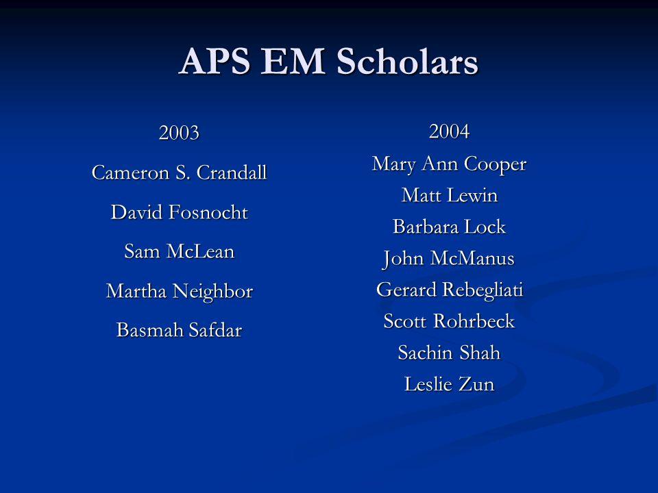 APS EM Scholars 2003 Cameron S.