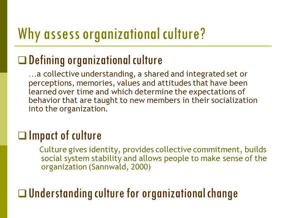 Why assess organizational culture.