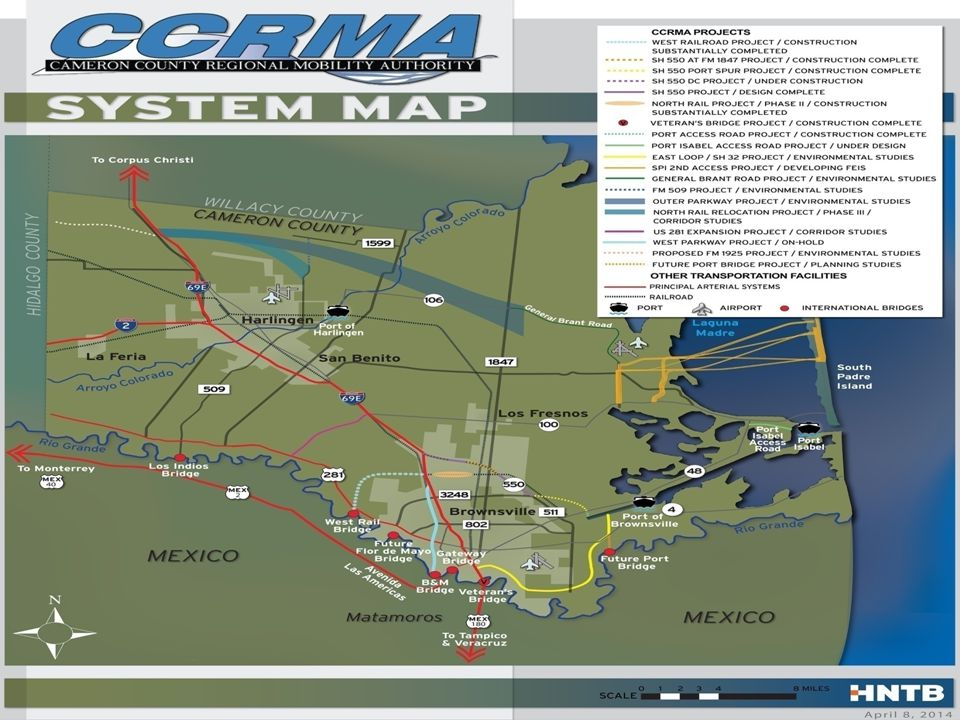 CCRMA Project Development List October 2014 Project NameProject Limits Project Costs Complete/ Under Const.